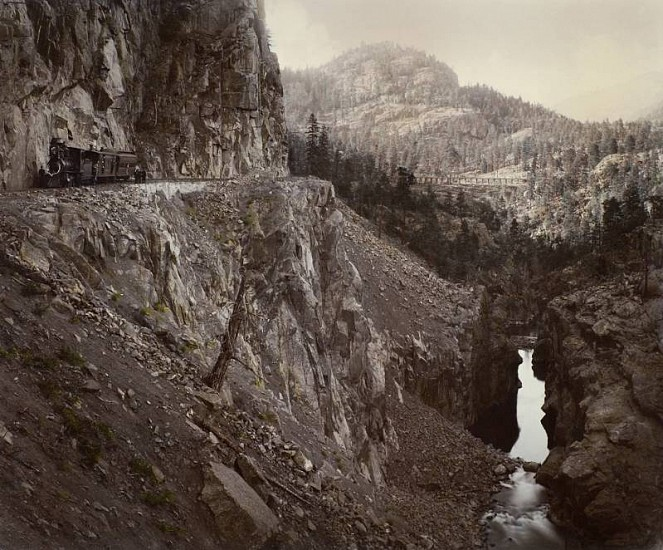 William Henry Jackson ,   Canyon of the Rio Las Animas  ,  c. 1882     Vintage albumen print from a mammoth-plate glass negative ,  16 3/4 x 20 1/4 in. (42.5 x 51.4 cm)     2333     Sold