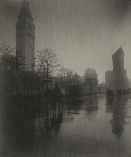 Jessie Tarbox Beals ,   A Rainy Day on the Avenue  ,  c.1909     Vintage gelatin silver print ,  8 5/8 x 7 1/4 in. (21.9 x 18.4 cm)     4157     Sold