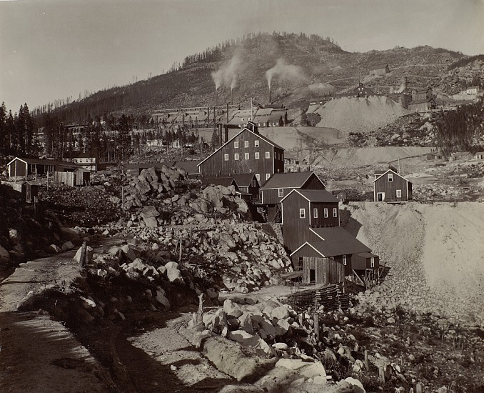Frank Jay Haynes ,   Mining Town  ,  Late 1880s/early 1890s     Vintage albumen print from a mammoth-plate glass negative ,  16 3/4 x 21 3/8 in. (42.5 x 54.3 cm)     1698     Sold