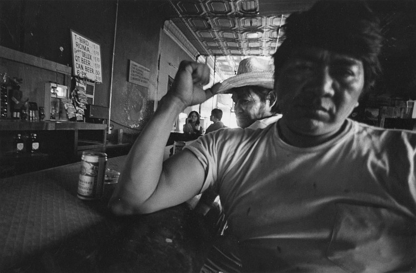 Roswell Angier ,   Indian Head Bar, Holbrook, Arizona  ,  1980     Vintage gelatin silver print ,  8 1/2 x 12 in. (21.6 x 30.5 cm)     2766