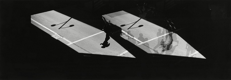Kenneth Josephson ,   Chicago  ,  1960     Vintage gelatin silver print ,  3 1/4 x 9 3/8 in. (8.3 x 23.8 cm)     6595     Sold