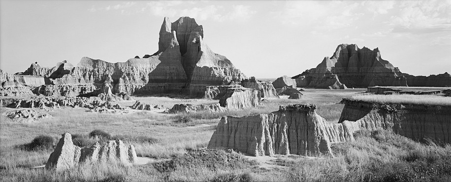 Lois Conner, Badlands, South Dakota 1990, Platinum print