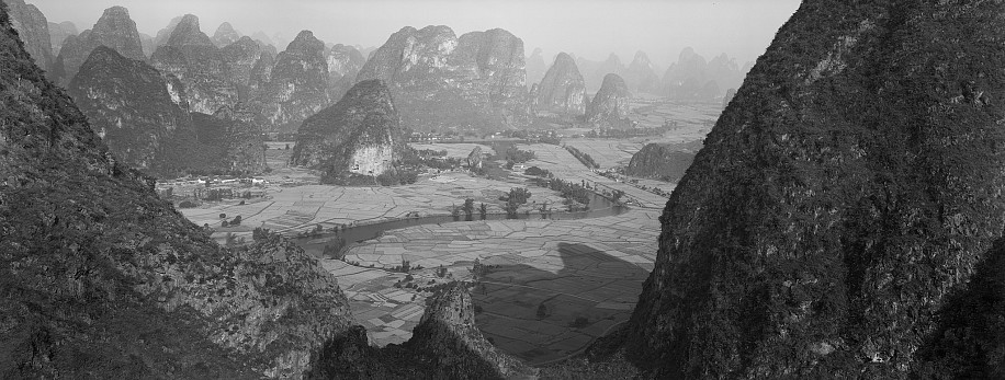 Lois Conner ,   Yueliang shan, Guangxi, China  ,  1985     Platinum print ,  6 1/2 x 16 1/2 in. (16.5 x 41.9 cm)     Edition of 10     5997     $6,000