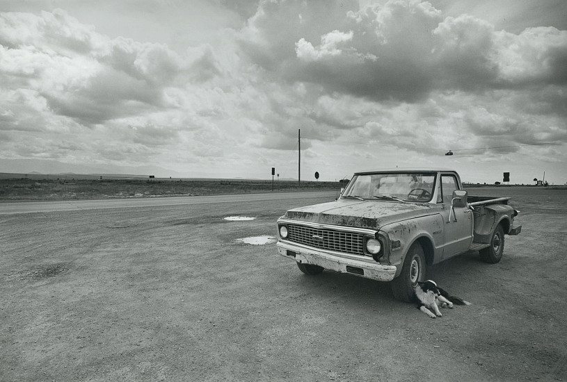 Roswell Angier ,   Outside Texas, New Mexico  ,  1978     Vintage gelatin silver print ,  8 x 12 in. (20.3 x 30.5 cm)     1297