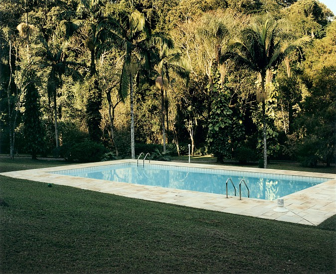 Allen Frame ,   Swimming pool, Campinas, Brazil  ,  2008     Chromogenic color print ,  30 x 35 1/2 in. (76.2 x 90.2 cm)     Edition of 5     3614