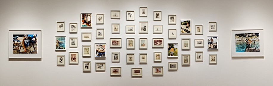 Allen Frame ,   Giuseppe  ,  2018     Gelatin silver prints ,  50 1/2 x 185 1/2 in. (128.3 x 471.2 cm)     Installation of 48 framed photographs: 2 chromogenic prints 14 x 17 1/2, 6 pigment prints 10 3/4 x 8 1/2, and 40 vernacular images     7871