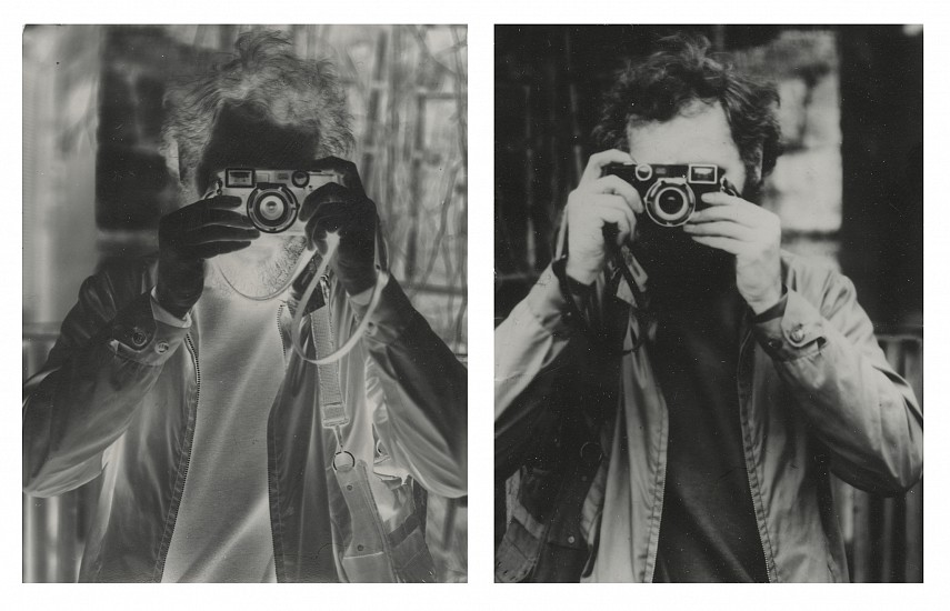 Kenneth Josephson ,   Greece  ,  1972     2 vintage gelatin silver prints, each ,  3 1/16 x 2 9/16 in. (7.8 x 6.5 cm)     (Self-portrait. One direct negative and one direct positive, each made separately in camera.) unique     8031     $12,000